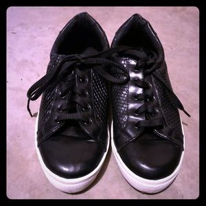 Topshop Snakeskin-like Tennis Shoes